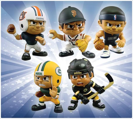 toy action figures for NFL MLB NBA NHL College Football